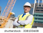 confident construction engineer ... | Shutterstock . vector #338103608