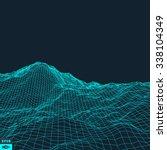 abstract vector landscape... | Shutterstock .eps vector #338104349