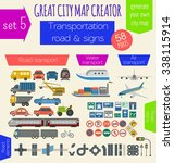 great city map creator. house... | Shutterstock .eps vector #338115914