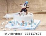 special birthday cake | Shutterstock . vector #338117678