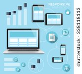responsive web design... | Shutterstock . vector #338118113