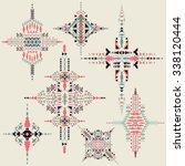 vector tribal ethnic ornament.... | Shutterstock .eps vector #338120444