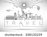 linear landmarks of the world... | Shutterstock .eps vector #338133239