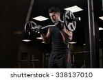 very power athletic guy... | Shutterstock . vector #338137010