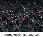 abstract background with points ... | Shutterstock . vector #338139068