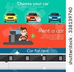 rent a car. trading car in flat ... | Shutterstock .eps vector #338139740