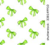 watercolor green tape ribbon...   Shutterstock . vector #338149910