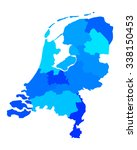 map of the netherlands | Shutterstock .eps vector #338150453