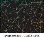 abstract colorful outline of... | Shutterstock .eps vector #338167346