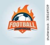 football logo template... | Shutterstock .eps vector #338169539