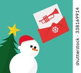 christmas mail  wish list... | Shutterstock .eps vector #338169914