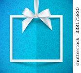white paper gift box vector... | Shutterstock .eps vector #338175830