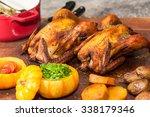 roast chicken | Shutterstock . vector #338179346