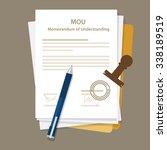 mou memorandum of understanding ... | Shutterstock .eps vector #338189519
