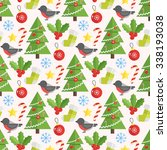 christmas background  vector... | Shutterstock .eps vector #338193038
