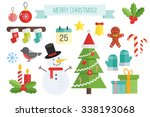 set of christmas icons.  vector ...   Shutterstock .eps vector #338193068