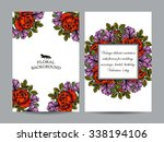invitation with floral... | Shutterstock . vector #338194106