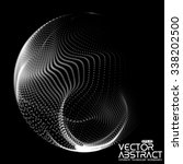 abstract vector destroyed mesh... | Shutterstock .eps vector #338202500