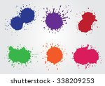 colorful paint splatters.paint... | Shutterstock .eps vector #338209253