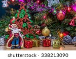 Christmas Tree And Santa Doll...