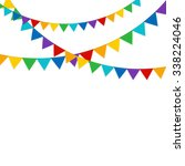 party background with flags...   Shutterstock .eps vector #338224046