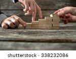 team effort on the way to... | Shutterstock . vector #338232086