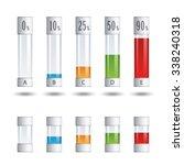 vector glass tubes percent... | Shutterstock .eps vector #338240318