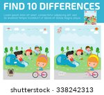 find differences game for kids  ... | Shutterstock .eps vector #338242313