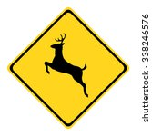 U.s. Deer Crossing Sign