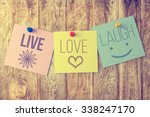 Live Laugh Love On Wooden...