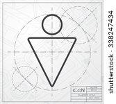 vector blueprint of man icon on ... | Shutterstock .eps vector #338247434