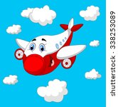 cartoon plane character   Shutterstock .eps vector #338253089