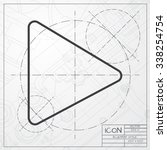 vector blueprint of play button ...