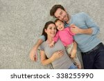 upper view of family of three... | Shutterstock . vector #338255990