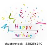 happy birthday greetings with... | Shutterstock . vector #338256140