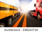 container truck transport for... | Shutterstock . vector #338263718