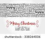 merry christmas. christmas... | Shutterstock .eps vector #338264036