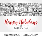 happy holidays. christmas... | Shutterstock .eps vector #338264039