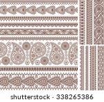 super set of ornamental... | Shutterstock .eps vector #338265386
