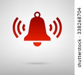 ringing bell icon | Shutterstock . vector #338268704