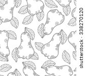 doodle vector monochrome pear... | Shutterstock .eps vector #338270120