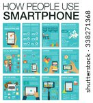 big set infographic with charts ... | Shutterstock .eps vector #338271368