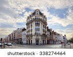 old central lille  rue... | Shutterstock . vector #338274464