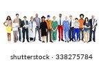 group of multiethnic mixed... | Shutterstock . vector #338275784