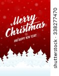 merry christmas and happy new... | Shutterstock .eps vector #338277470