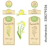 Set Of Rapeseed Oil Labels ...