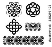 celtic irish patterns and knots ...   Shutterstock .eps vector #338295428