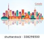canada landmark skyline. vector ... | Shutterstock .eps vector #338298500