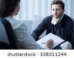 young man during therapy at... | Shutterstock . vector #338311244
