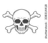 human evil skull vector. pirate ... | Shutterstock .eps vector #338314418